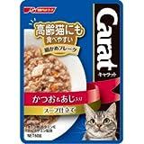 日清ペットフード 猫用ウェットフード キャラット レトルト 高齢猫にも食べやすい細かめフレーク かつお&あじ入り スープ仕立て 60g