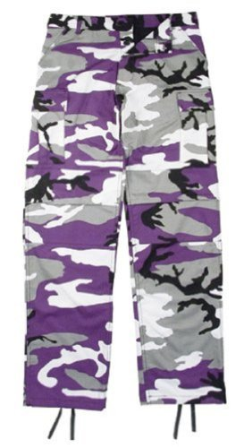 Purple Camo Pants - 6