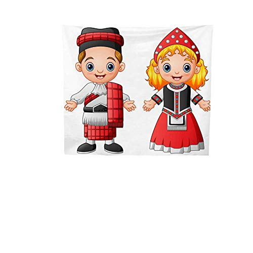 Sunset glow Pattern Tapestry Cartoon.jpg Scottish.jpg Couple.jpg Wearing.jpg Traditional.jpg Costumes.jpg Gorgeous Tapestry 47W x 47L Inch