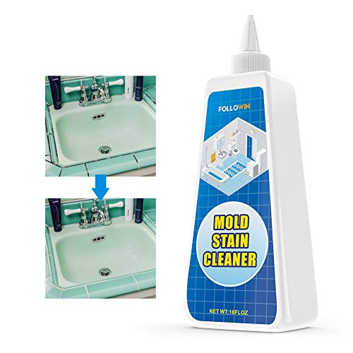 FOLLOWIN Mold and Mildew Stains Bathroom Cleaner Gel 16oz, Household Stain Cleaner for Showers Tiles Grout Sealant Sinks