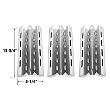 3 PACK Stainless Steel Heat Plate Replacement for select Broil King Connaisseur 90, Signet 20, Signet 40, Signet 70, Signet 90, Sovereign 20, Sovereign 70, Sovereign 90, Sovereign 90S, Broil-Mate, Huntington and Sterling Gas Grill Models