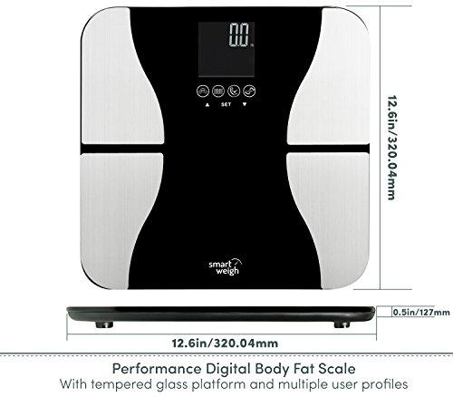 Bmi Bathroom Scale: Smart Weigh Digital Bathroom BMI Body Fat Weight Scale