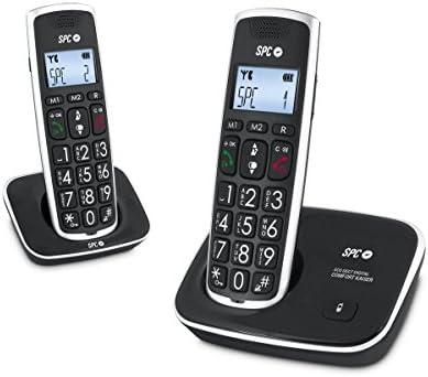 SPC Comfort Kaiser Duo teléfono inalámbrico color negro con teclas y digitos grandes, compatible con audífonos, agenda de 20 nombres y números y manos libres: Spc-Telecom: Amazon.es: Electrónica