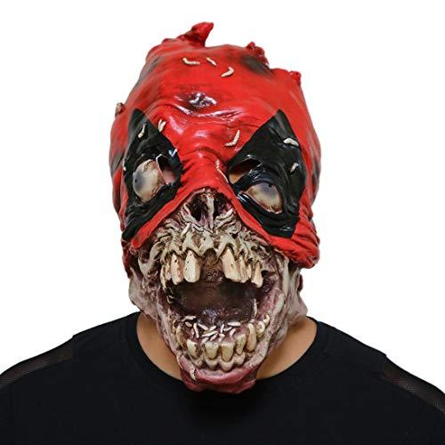 Unpara Halloween Latex Deadpool Mask Costume Party Props Scary Terror Full Head Zombies Mask (Deadpool) -