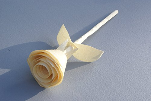 Anniversary Gift Wooden Rose For 5 Year Handmade Traditional Wood Birthday Present Natural Her
