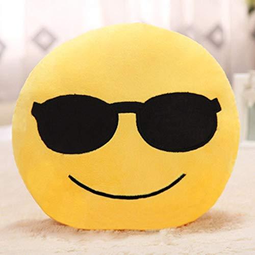 Amazon.com: JEWH Soft Emoji Smiley Emoticon Round Cushion Pillow Sofa Stuffed - Plush Toy Doll Christmas Emoji Cushion (32cm) (4) : Toys & Games