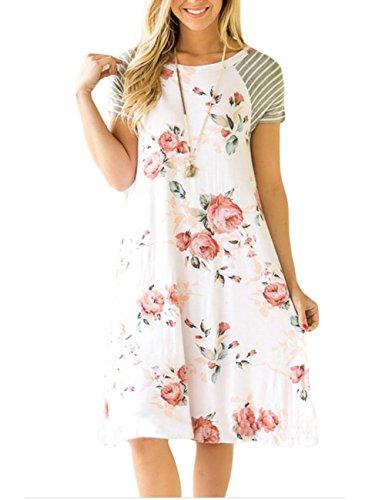 Sleeve Print Women Dress - 8