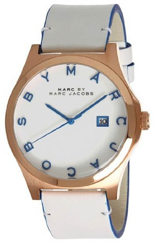 Gold Tone White Dial - Marc Jacobs Henry White Dial Rose Gold-tone Stainless Steel Mens Watch MBM1249
