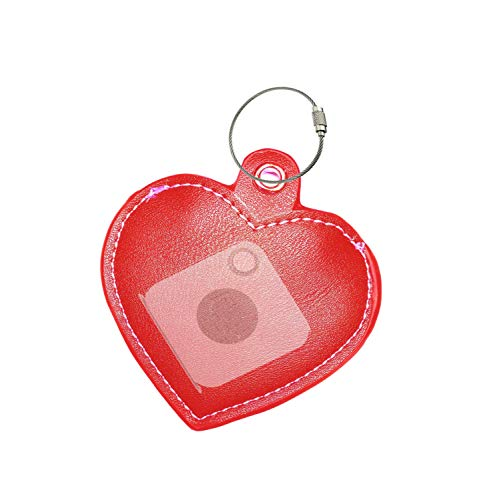 (all4fit Fashion Key Chain Cover Style Accessories for Tile Skin Phone Finder Key Finder Item Finder (only case, NO Tracker Included). for Old Mate and New ttile Mate with Removable Battery. Heart red)
