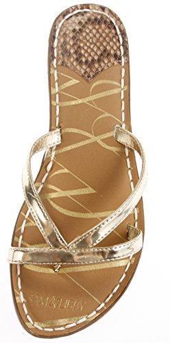 Libby Sangle Double Or Femme Pour Kori Sandale Sam amp; Slide 5tfxwIqtF