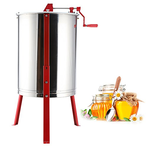 - Tek Motion 4-Frame Large Stainless Steel Honey Extractor SS Beekeeping Equipment