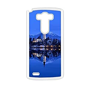 Creative phone case for LG G3,glam blue river tower design