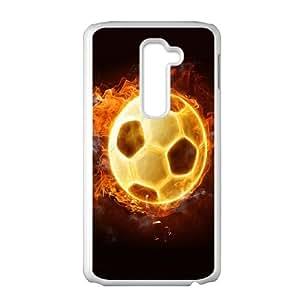 LG G2 Cell Phone Case White Fire 55 N6B7UE