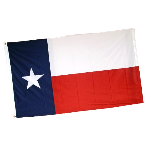 Online Stores Texas-TX35P printed Superknit Polyester Flag, 3' x 5' ()