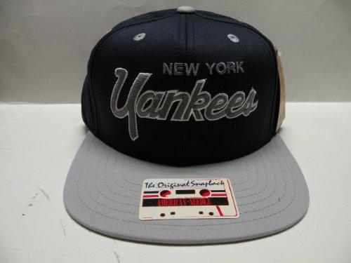 American Needle MLB New York Yankees Script Team Color 2 Tone Retro Snapback Cap (Yankees American Needle)