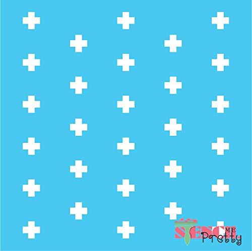 (Fun Allover Stencil - Cross Polkadot Surface Art Template - XL (21