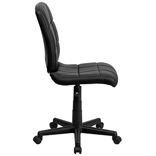 Flash Furniture Mid-Back Black Quilted Vinyl Swivel Task Chair – GO-1691-1-BK-GG