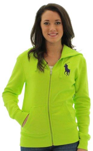 Polo Ralph Lauren Big Pony Women's Hoodie Sweatshirt (Racing Green, X-Large)