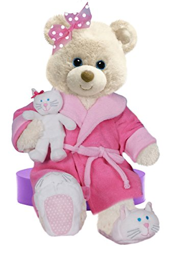 First and Main Recuperate Kate Get Well Plush Bear with a Small Kitty, 10 Inch