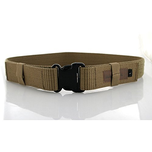 BLACKHAWK! Enhanced Military Web Belt, Coyote Tan - Waists up to 43-Inches ()
