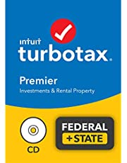 $89 » TurboTax Premier 2021 Tax Software, Federal and State Tax Return with Federal E-file [Amazon Exclusive] [PC/Mac Disc]