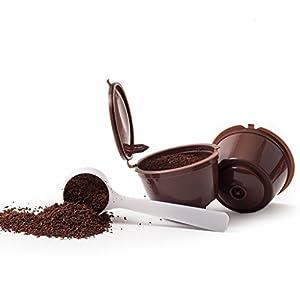 1 CAFFE CAPSULE PER RIUTILIZZABILE RICARICABILE ricaricabile DOLLCE GUSTO + 1 cucchiaino