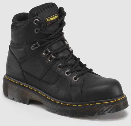 Dr. Martens Men's Ironbridge Ns Work Boot,Black/Industrial Grizzly,6 UK/7 M US (Black Boots Water Western)