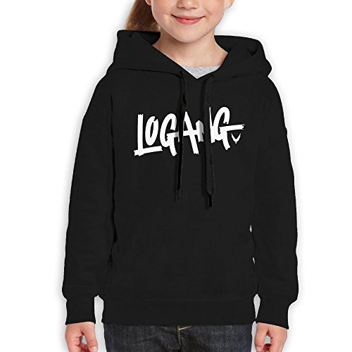 Addie E. Neff Pullover Parrot Logo Logang Logan Paul Bro Boys,Girls,Youth Hipster Sweatshirt Pocket Hoodie L Black by Addie E. Neff
