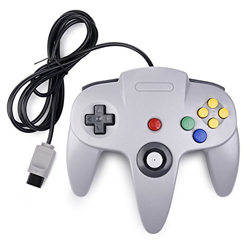 N64 Controller, iNNEXT Classic Wired N64 64-bit Gamepad Joystick for Ultra 64 Video Game Console (Grey)