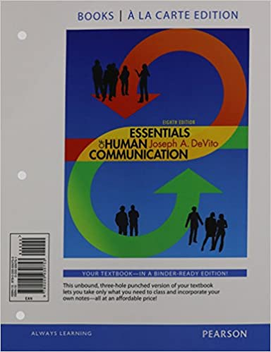 Essentials of human communication books a la carte edition 8th essentials of human communication books a la carte edition 8th edition 9780205930753 communication books amazon fandeluxe Choice Image