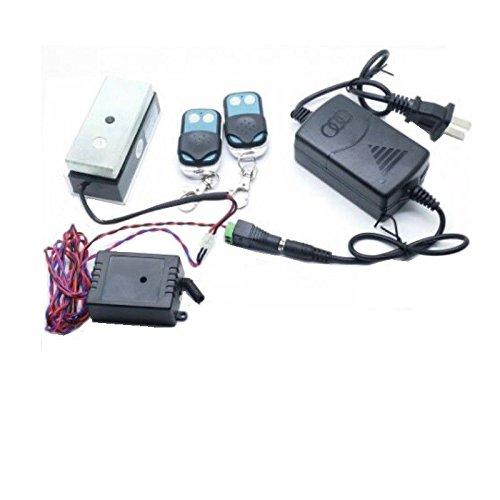 FidgetFidget 100lbs 12V Mini Door Magnetic Lock Remote Control Cabinet Lock Drawer