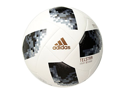 adidas FIFA World Cup Glider Ball White/Black/Silver Metallic, 5 (The Best Ball In The World)