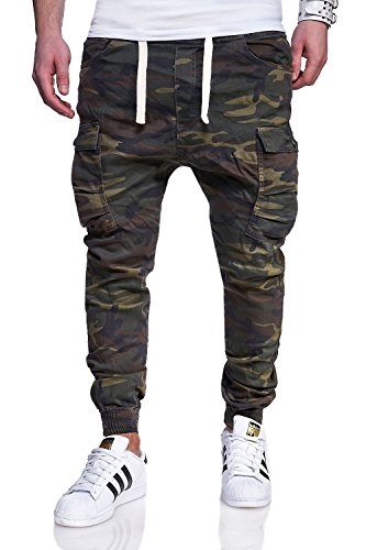 BEHYPE Men's Jogger Pants with Cargo pockets RJ-3188 (camo, W32)