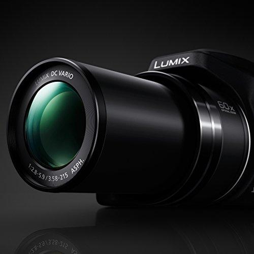 PANASONIC LUMIX FZ80 4K 60X Zoom Camera, 18.1 Megapixels, DC VARIO 20-1200mm Lens, F2.8-5.9, 4K 30p Video, Power O.I.S, WiFi – DC-FZ80K (USA BLACK)