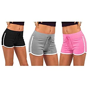 Avaatar Women Yoga Shorts (Multicolored_Small)