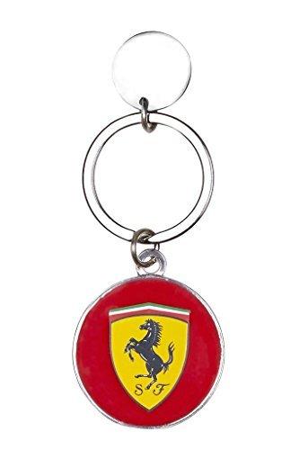 Scuderia Ferrari Formula 1 Authentic Metal Rounded Keychain