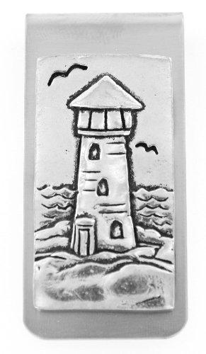 Handmade Pewter Money Clips Lighthouse product image