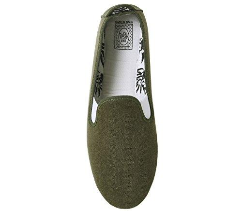 Uomo Scarpe Classic Verde Verde Flossy Plimsoll wA8xS