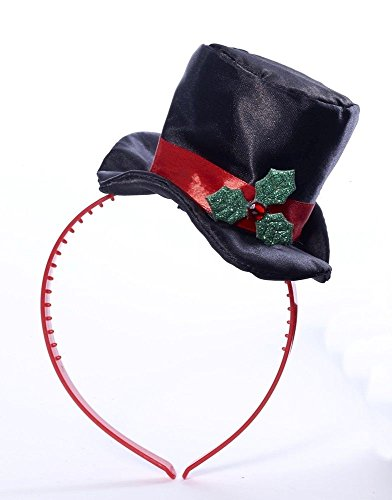 Mini Top Hat With Mistletoe (Christmas Mini Top Hat With Mistletoe Costume Headband One Size Fits Most)