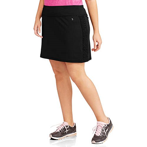 Womens Plus-size Performance Drawstring Skort w/ Ruched Siding Activewear (2X, ()
