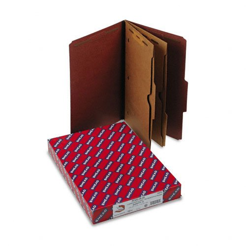2' Capacity Prong Fasteners (Smead Products - Smead - Pressboard Folders w/2 Pocket Dividers, Legal, 6-Section, Red, 10/Box - Sold As 1 Box - Feature 2