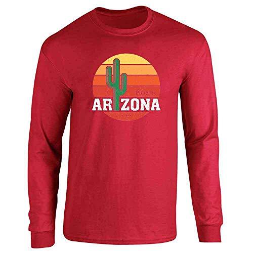 (Phoenix Arizona Retro Travel Red S Long Sleeve T-Shirt)