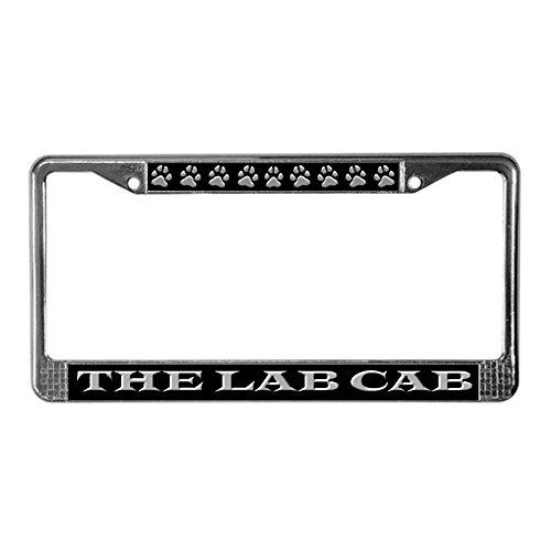 CafePress - Black Lab Cab - Chrome License Plate Frame, License Tag - Accessories Decorative Labrador Retriever