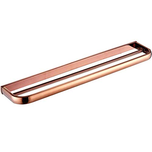 AQJD Solid Brass Bathroom Towel Bar 24'' Accessories Europe Style Bathroom Hardware Set Wall Mount Rose Gold
