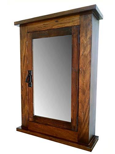 Primitive Mission Medicine Cabinet/Surface Mount/Distressed Medium Finish/Solid Wood & Handmade - Mission Medicine Cabinet