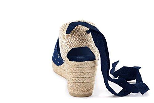 Blu donna in Scarpe Blu prodotte a in aperte tacco Spagna Viscata punte da q7wYO