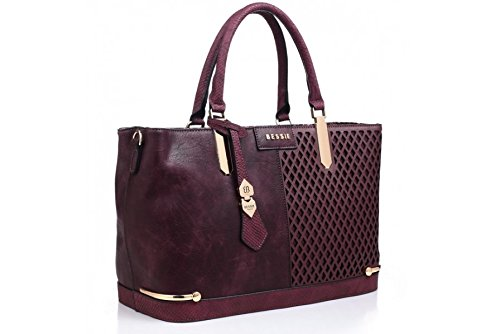Burgundy Aubergine - Purple Women's Handbag