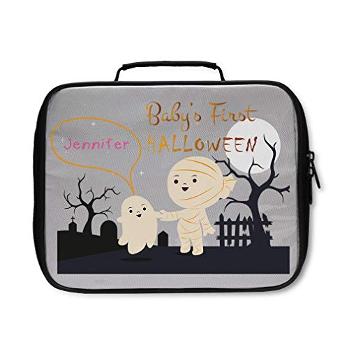 Custom Personalized Baby's First Halloween Mummy Graveyard Insulated Lunch Box ()