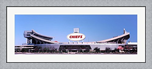 Arrowhead Stadium, Kansas City, Missouri by Panoramic Images Framed Art Print Wall Picture, Flat Silver Frame, 44 x 20 inches Arrowhead Stadium Framed Photo