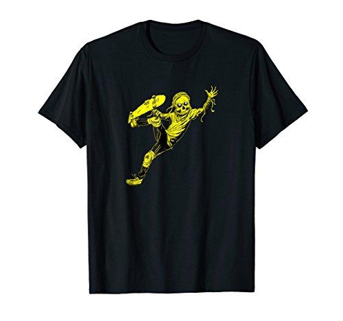 Heavy Metal Punk Rock Zombie Skateboard Skate T-shirt